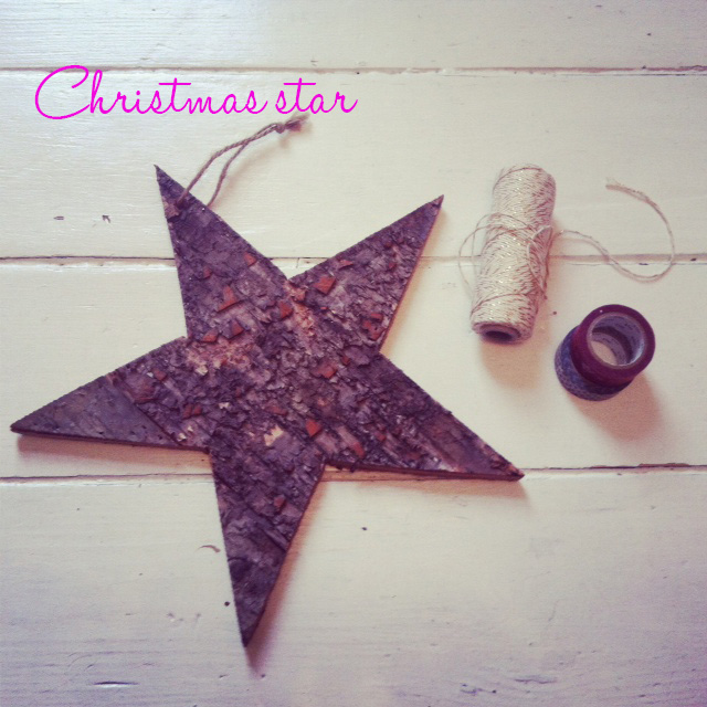 Christmas wooden star